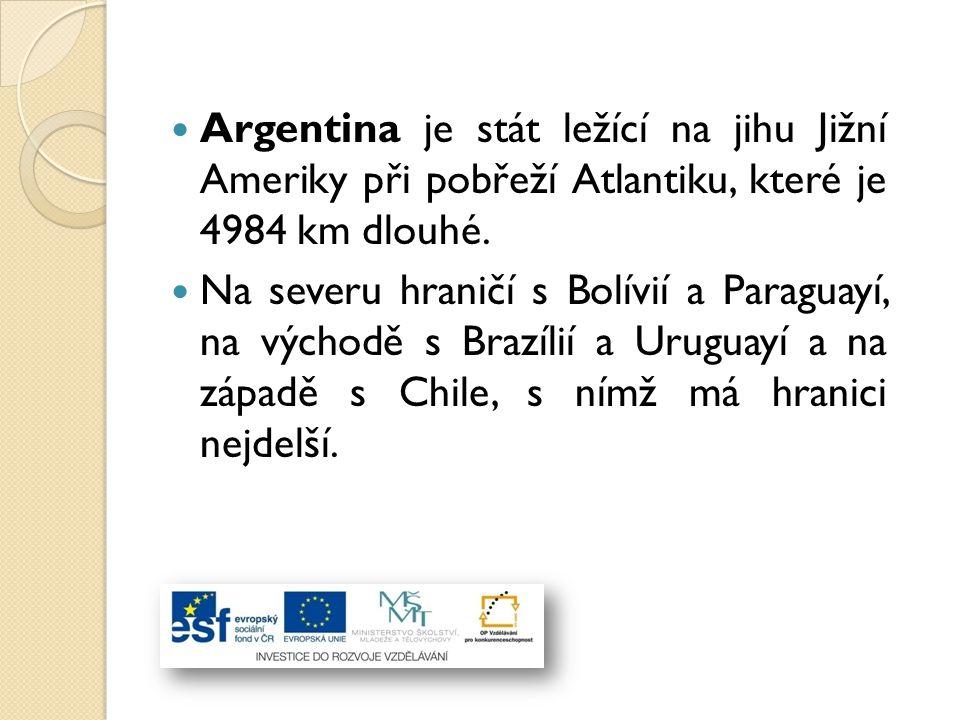 Počet obyvatel Argentiny přesahuje 40 milionů.