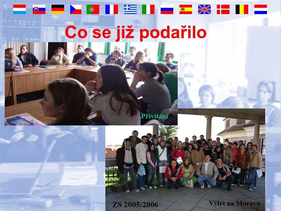 Co se již podařilo Výlet na Moravu ZS 2005/2006 Výlet na Moravu Přivítání