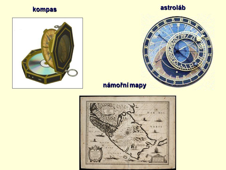 kompas astroláb námořní mapy