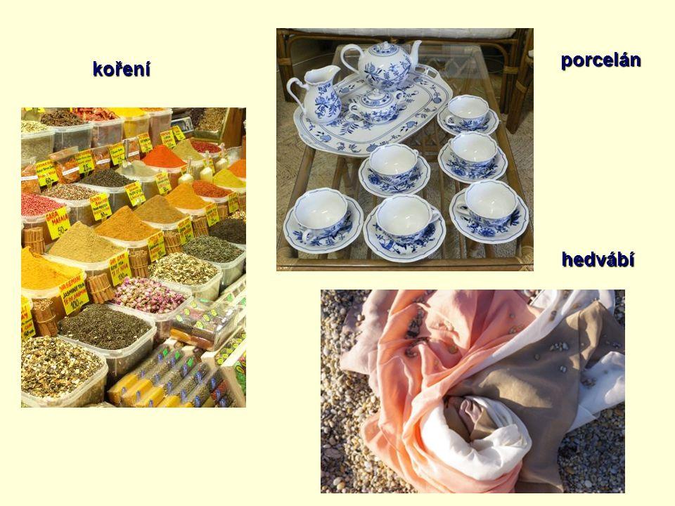 koření porcelán hedvábí
