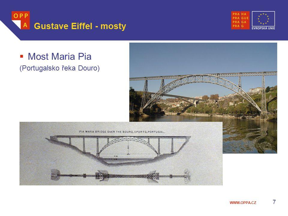 WWW.OPPA.CZ  Most Maria Pia (Portugalsko řeka Douro) Gustave Eiffel - mosty 7