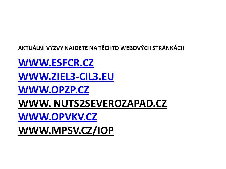 WWW.ESFCR.CZ WWW.ZIEL3-CIL3.EU WWW.OPZP.CZ WWW.ESFCR.CZ WWW.ZIEL3-CIL3.EU WWW.OPZP.CZ WWW.