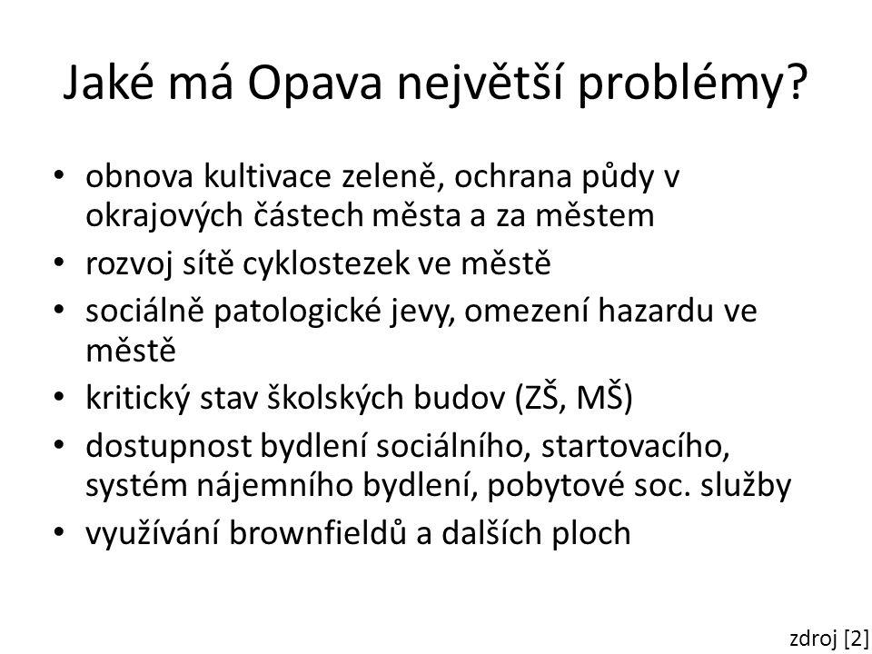 Jaké má Opava největší problémy.