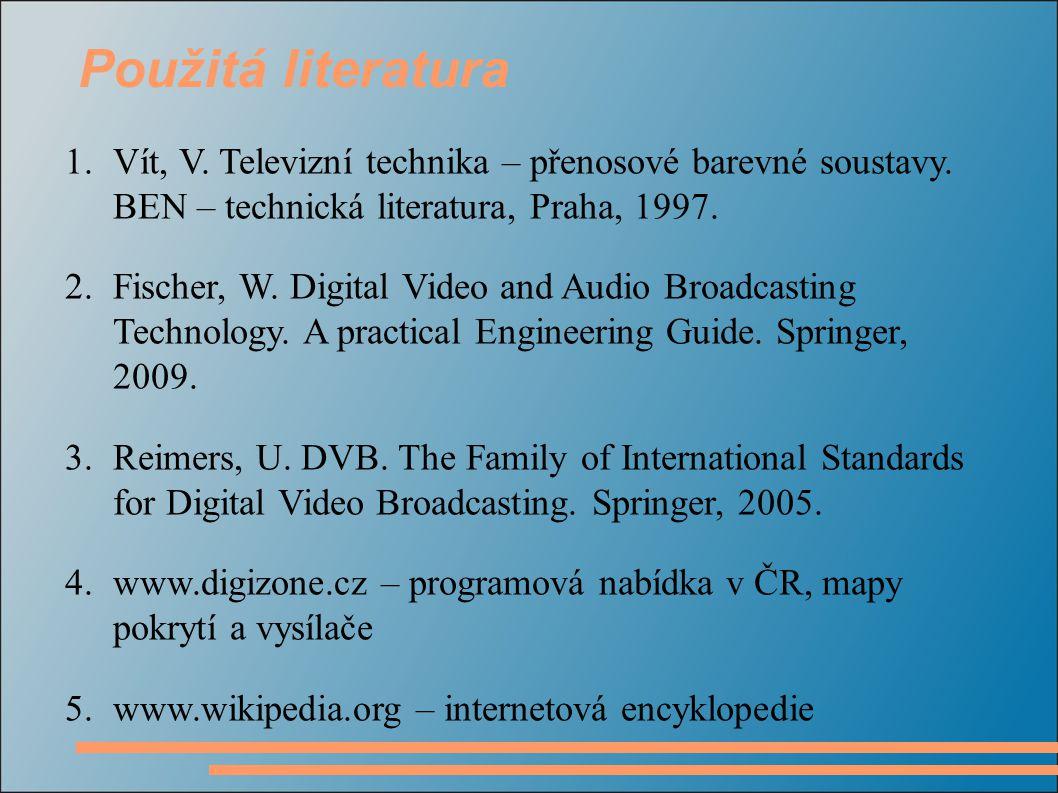 1.Vít, V.Televizní technika – přenosové barevné soustavy.