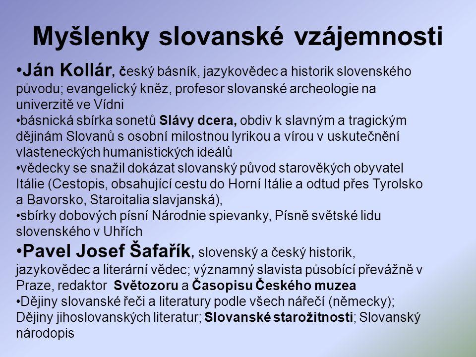 Ján Kollár, český básník, jazykovědec a historik slovenského původu; evangelický kněz, profesor slovanské archeologie na univerzitě ve Vídni básnická