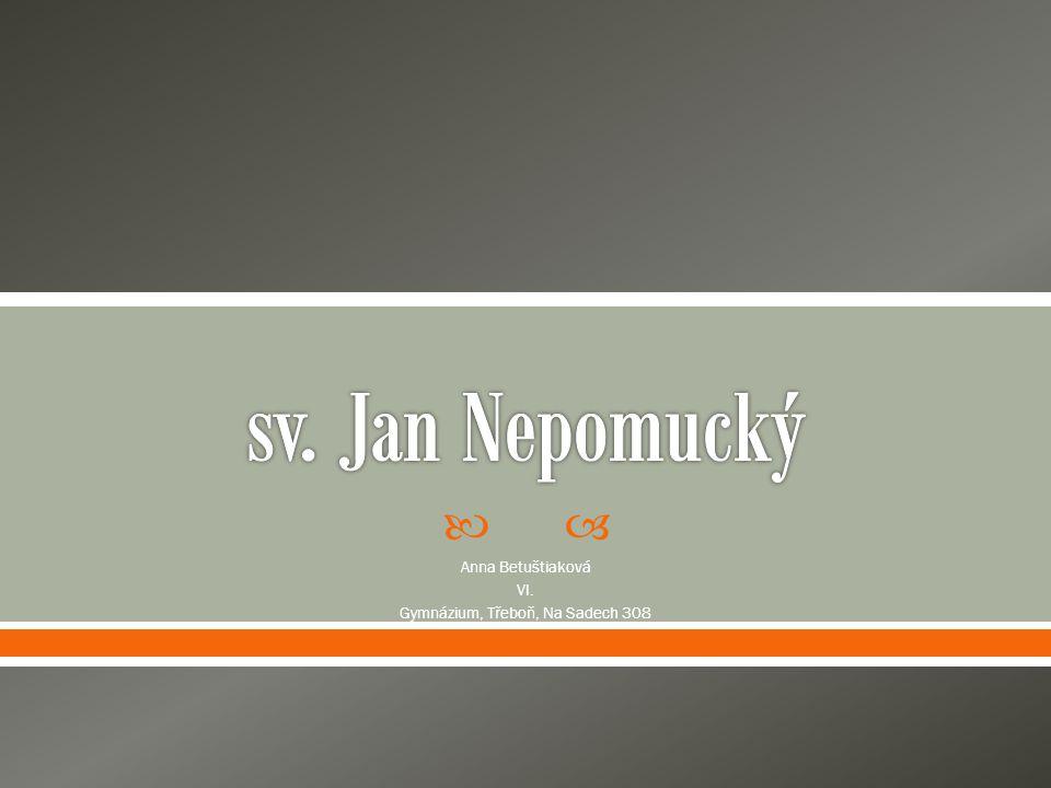  Anna Betuštiaková VI. Gymnázium, Třeboň, Na Sadech 308