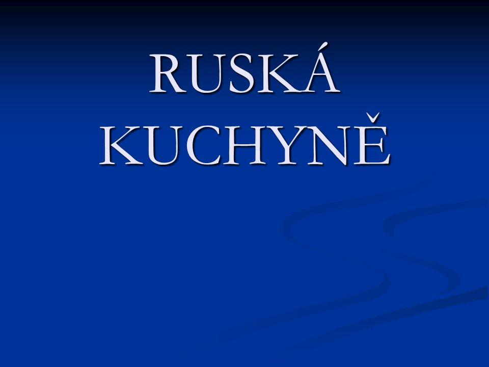 Kaše – nejstarší původní pokrm.V Rusku se připravuje na sladko i na slano a z mnoha druhů surovin.