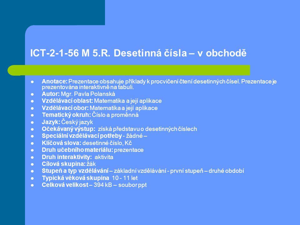 ICT-2-1-56 M 5.R.