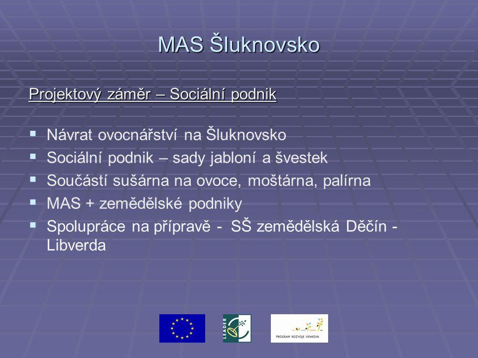 MAS Šluknovsko Projektový záměr – Sociální podnik   Návrat ovocnářství na Šluknovsko   Sociální podnik – sady jabloní a švestek   Součástí sušár