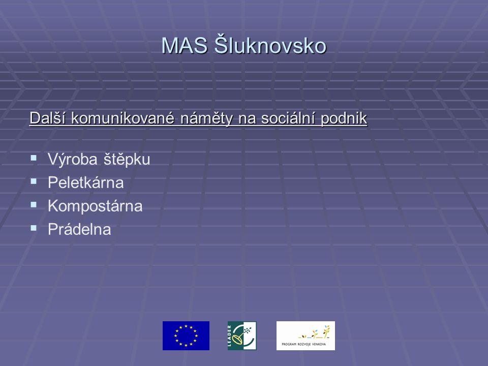 MAS Šluknovsko Další komunikované náměty na sociální podnik   Výroba štěpku   Peletkárna   Kompostárna   Prádelna