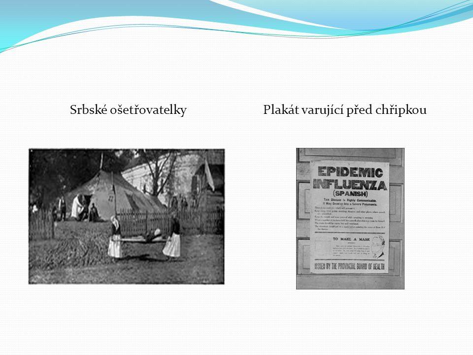 Srbské ošetřovatelkyPlakát varující před chřipkou