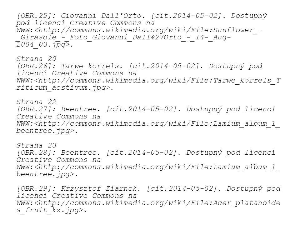 [OBR.25]: Giovanni Dall'Orto. [cit.2014-05-02]. Dostupný pod licencí Creative Commons na WWW:. Strana 20 [OBR.26]: Tarwe korrels. [cit.2014-05-02]. Do