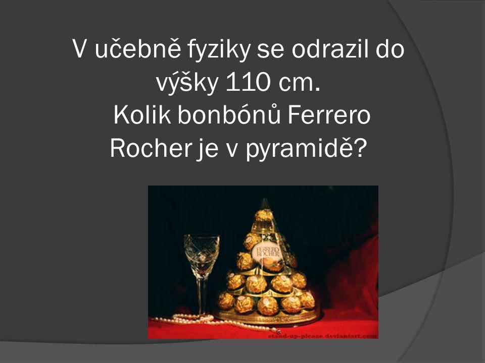 """V """"pyramidě jsme nalezli 27 bonbónů. Jaká je hmotnost prázdné láhve (150 cl) Bohemia Sekt?"""
