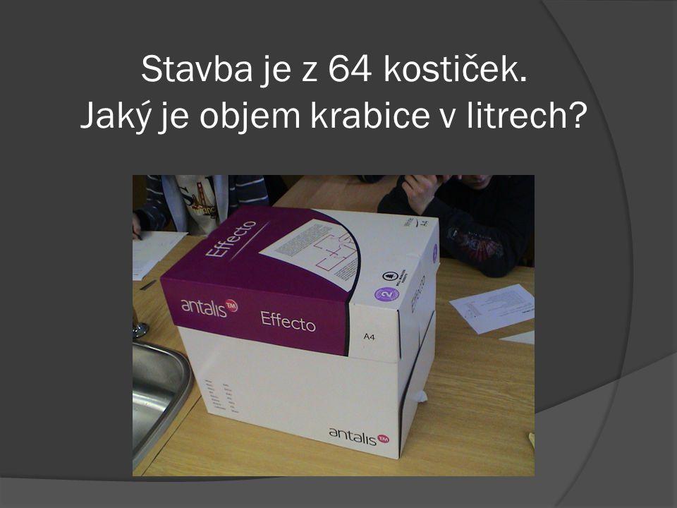 Objem krabice je 15,746 l.