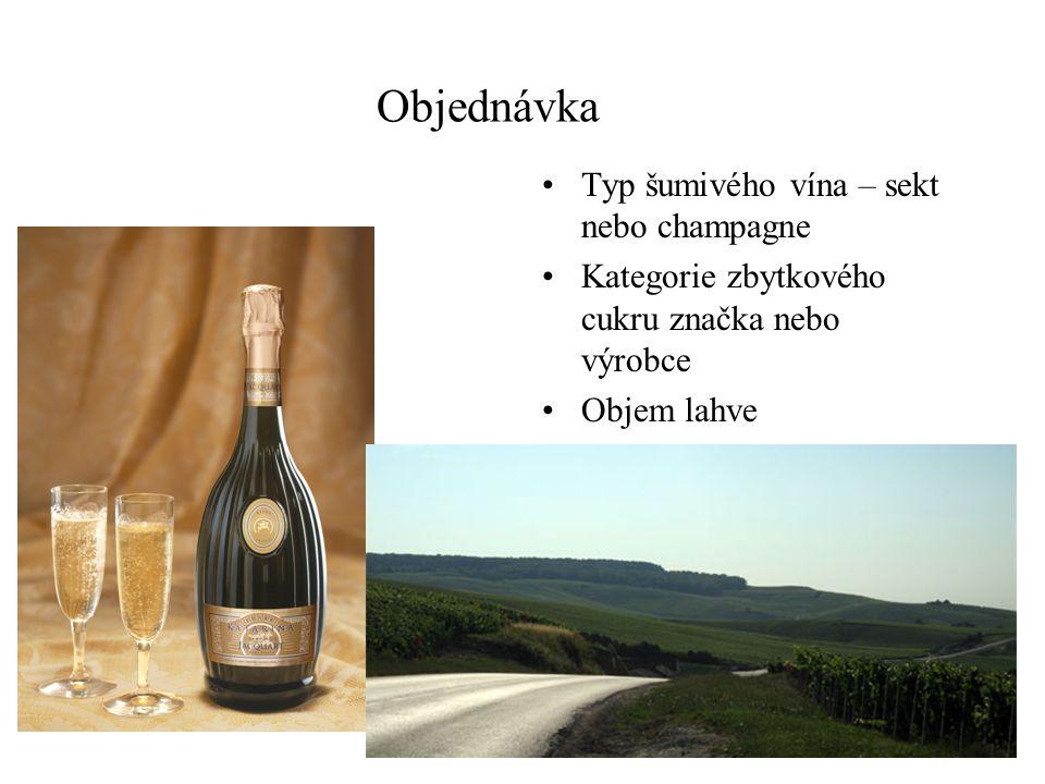 Šampaňská a šumivá vína chladíme na 4 – 9st. Podle obsahu cukru