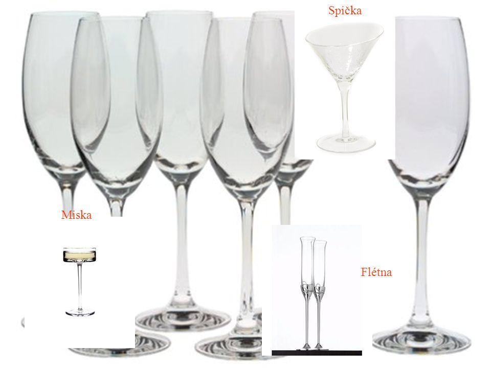Inventář Příručník Číšnický nůž Podšálek na korek a podšálek na kapsli a agrafu Degustační sklenice pro sommeliera Chladič na víno Sklenice na šumivé