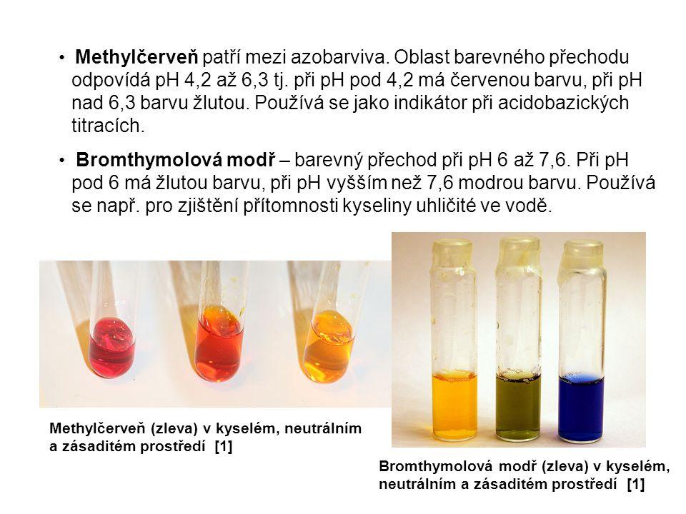 Methylčerveň patří mezi azobarviva. Oblast barevného přechodu odpovídá pH 4,2 až 6,3 tj. při pH pod 4,2 má červenou barvu, při pH nad 6,3 barvu žlutou