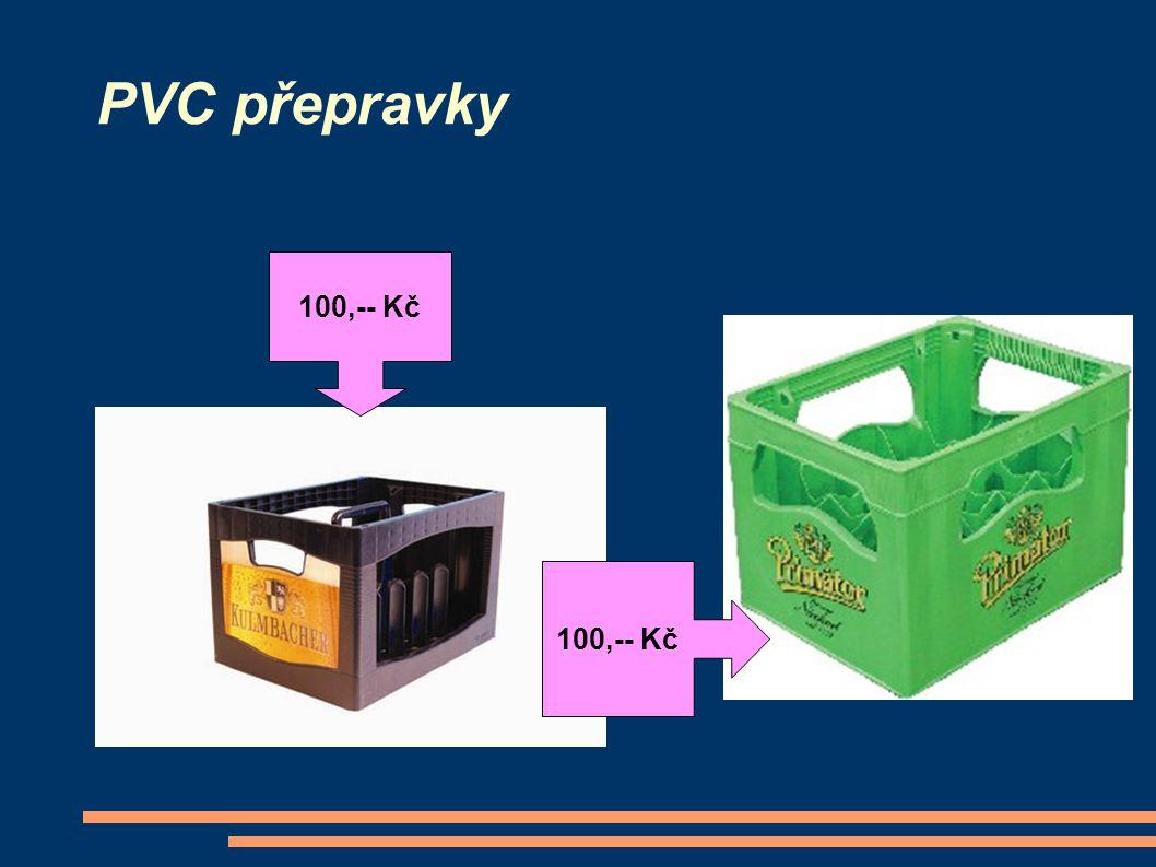 PVC přepravky 100,-- Kč