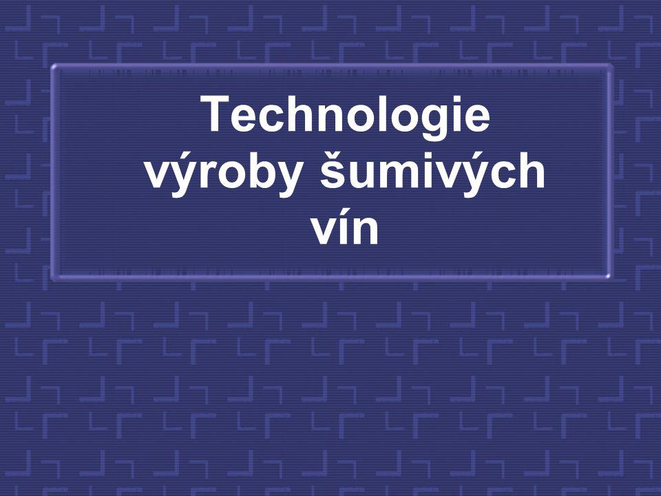 Technologie výroby šumivých vín