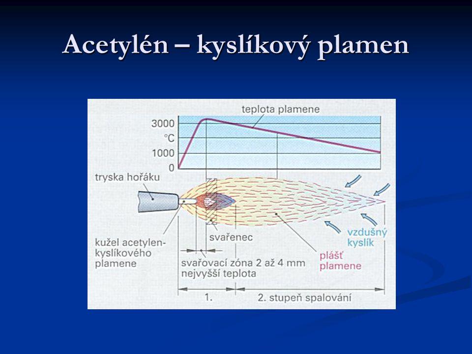 Acetylén – kyslíkový plamen