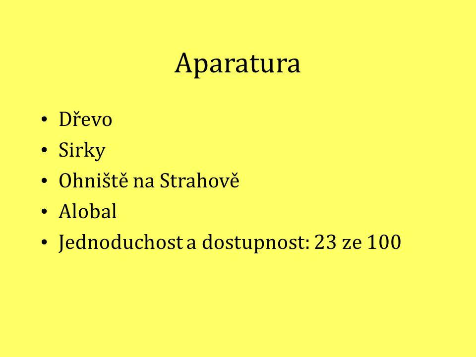 Aparatura Dřevo Sirky Ohniště na Strahově Alobal Jednoduchost a dostupnost: 23 ze 100