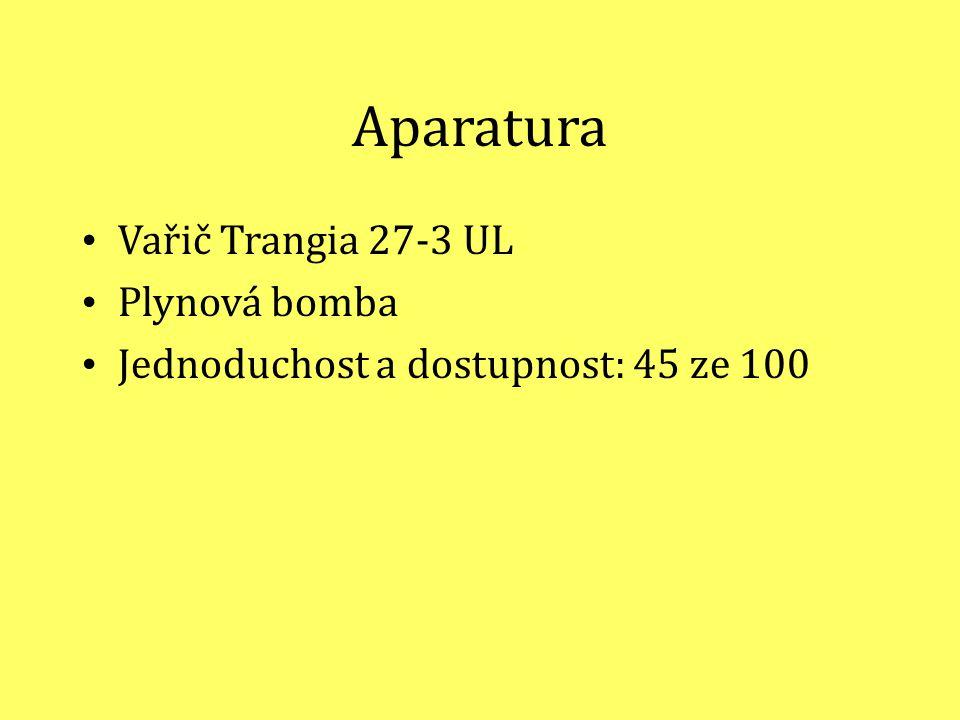 Aparatura Vařič Trangia 27-3 UL Plynová bomba Jednoduchost a dostupnost: 45 ze 100