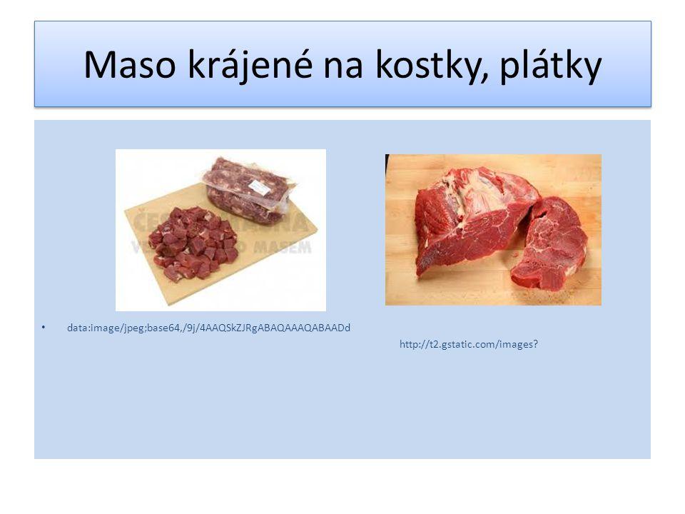 Použití hovězího vařeného masa Charakteristika: 1).