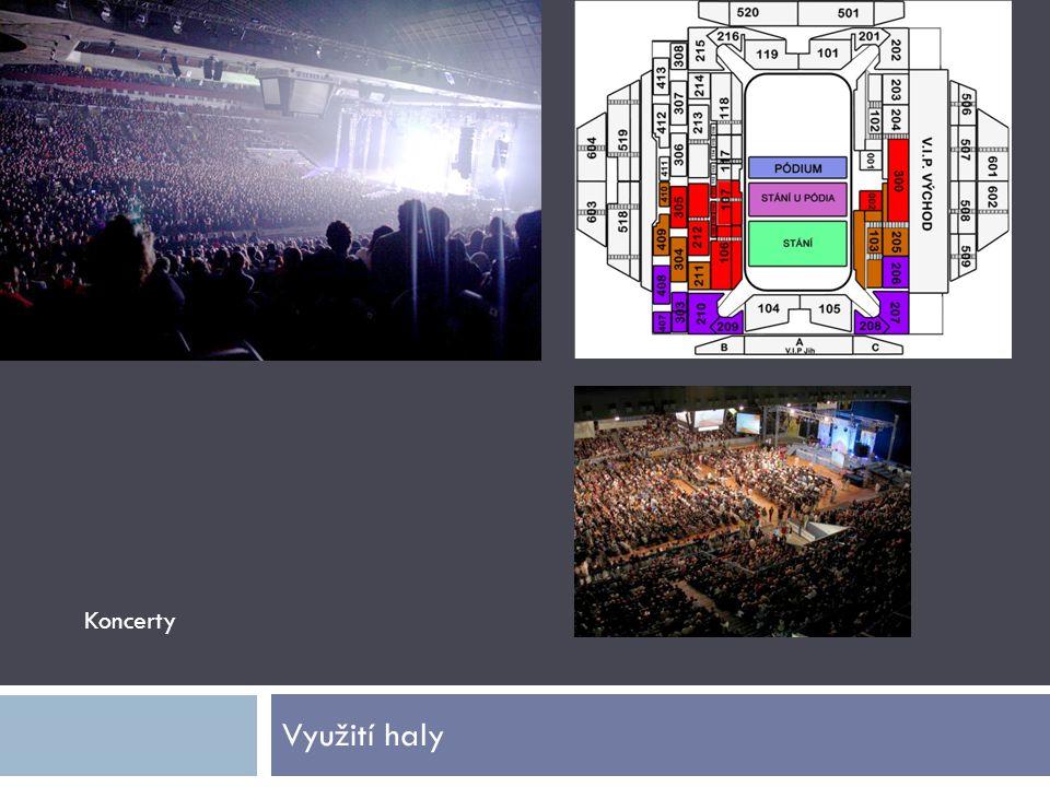 Využití haly Koncerty