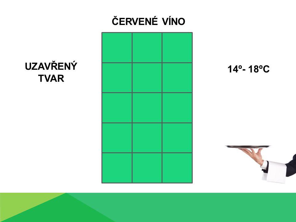 UZAVŘENÝ TVAR ČERVENÉ VÍNO 14º- 18ºC