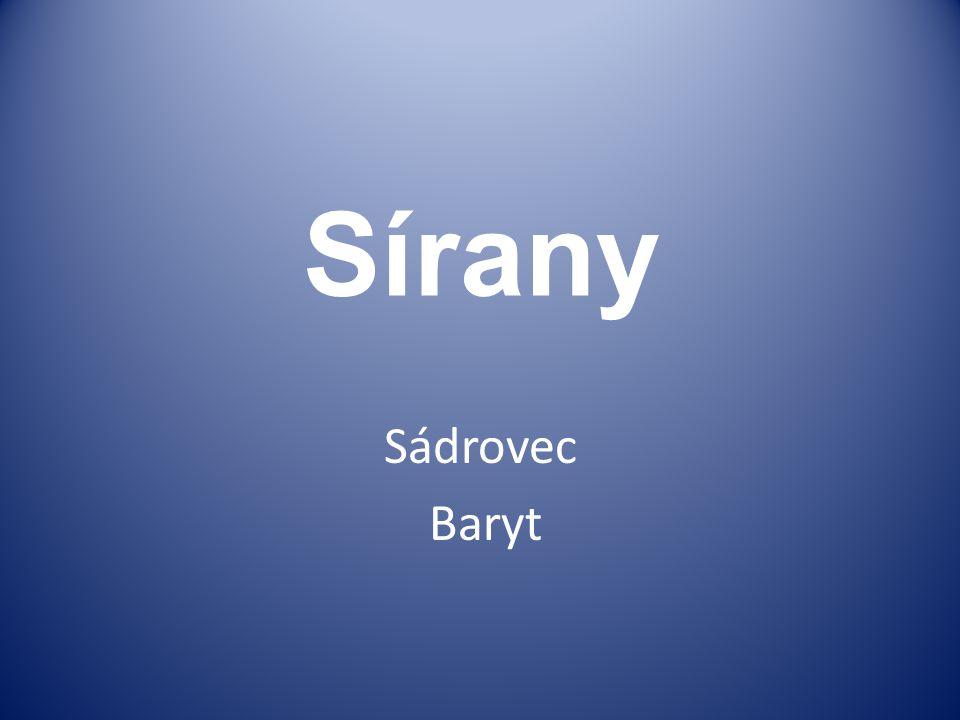 Sírany Sádrovec Baryt