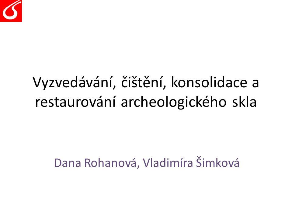 Vyzvedávání, čištění, konsolidace a restaurování archeologického skla Dana Rohanová, Vladimíra Šimková