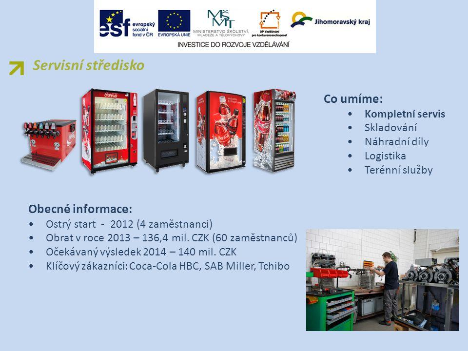 Výhody vzájemné spolupráce SPŠEIT Brno Renomovaná zavedená společnost Jeden z největších světových zákazníků Coca - Cola Praxe ve skutečném provozu Stínování odborníků Získání pracovních návyků ze zaběhlého provozu Možnost brigád pro studenty Možnost 1.