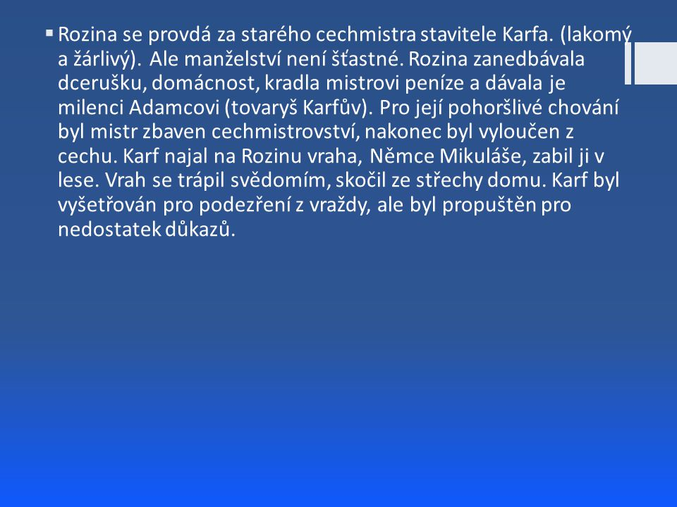 Mistr Kampanus  Román z doby pobělohorské(přesněji období let 1612 – 1622) o českém vědci, básníkovi a rektoru pražské university, očitém svědku stavovského povstání.
