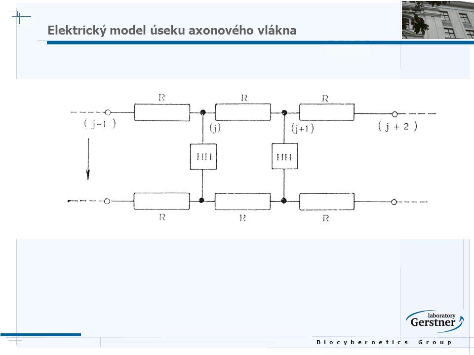 B i o c y b e r n e t i c s G r o u p Elektrický model úseku axonového vlákna