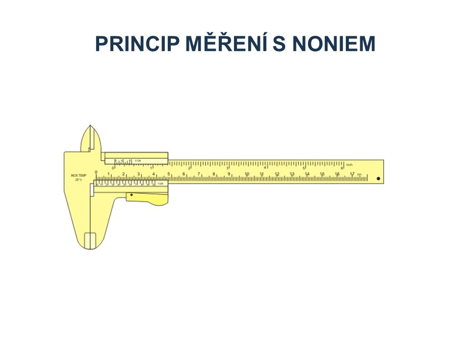 PRINCIP MĚŘENÍ S NONIEM