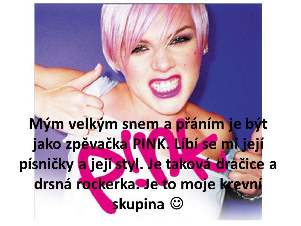 Mým velkým snem a přáním je být jako zpěvačka PINK.