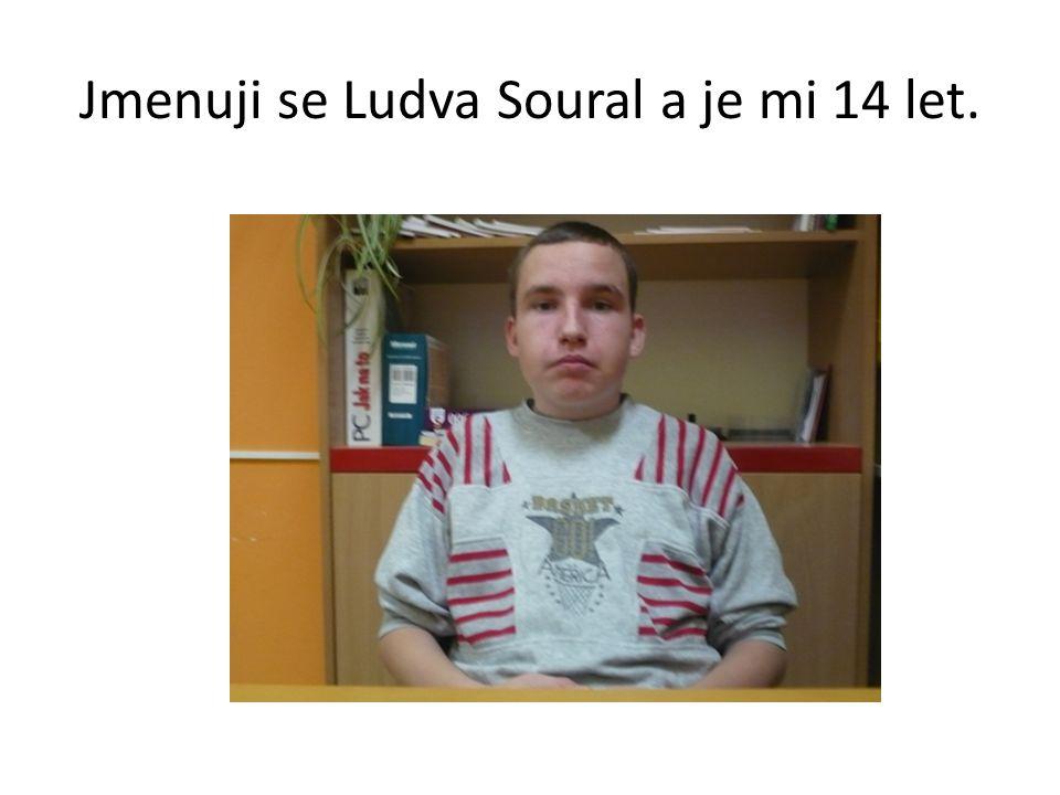 Jmenuji se Ludva Soural a je mi 14 let.