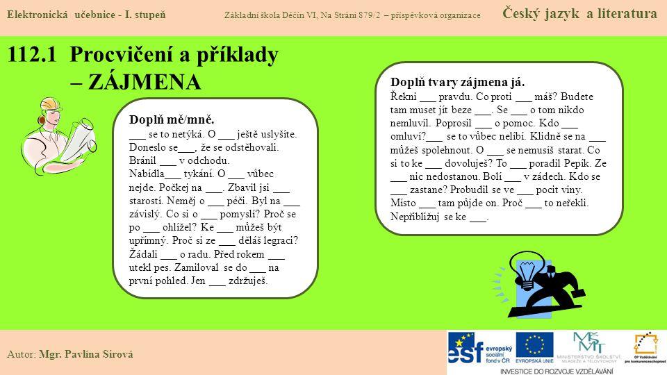 112.2 Procvičení a příklady - ČÍSLOVKY Elektronická učebnice - I.