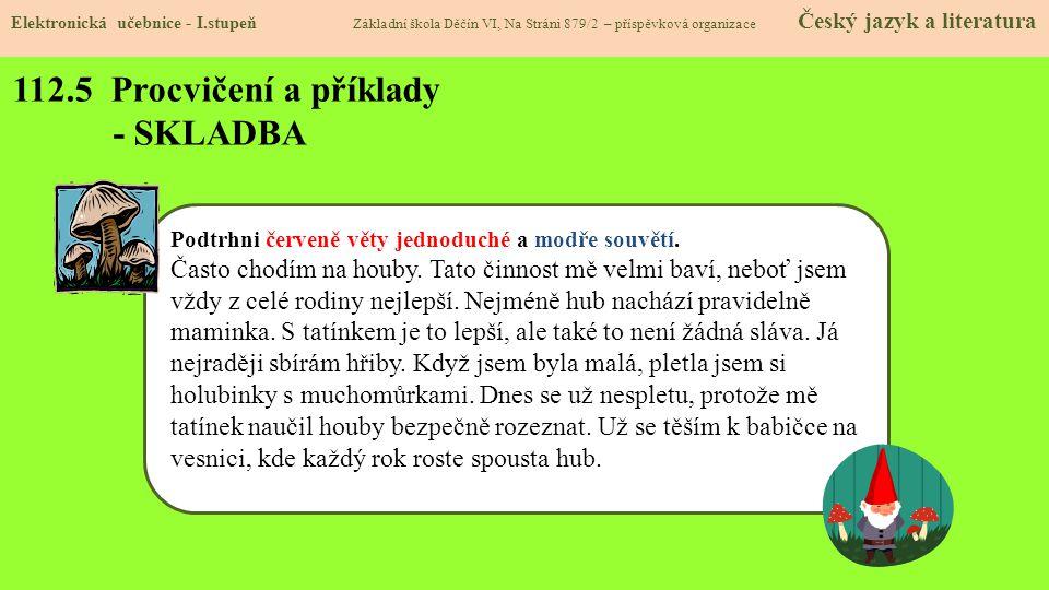 112.6 Procvičování a příklady - SKLADBA Elektronická učebnice - I.