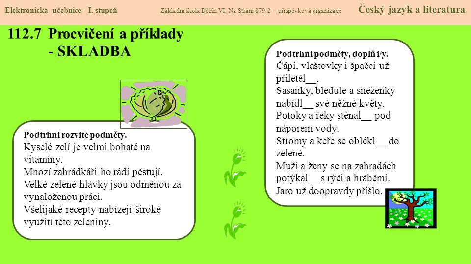 112.8 Procvičení a příklady - SKLADBA Elektronická učebnice - I.