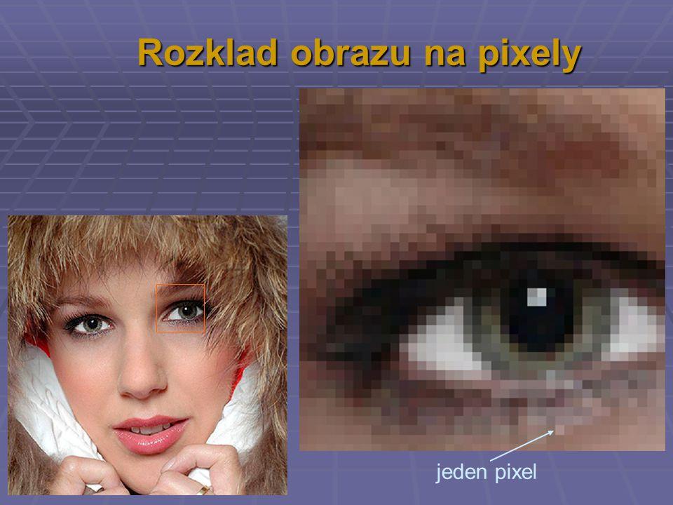 Rozklad obrazu na pixely jeden pixel