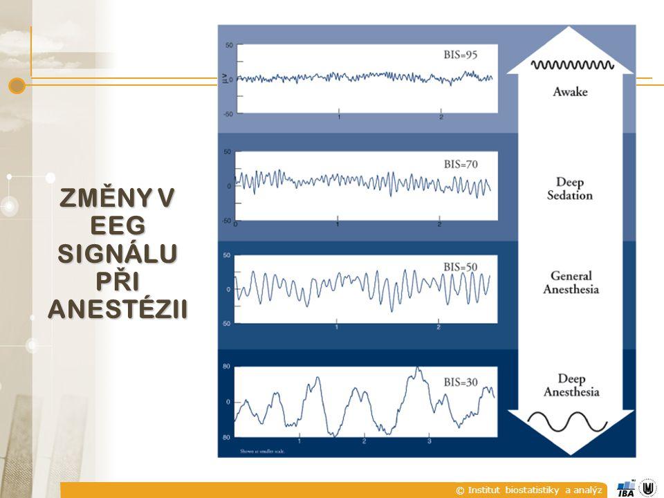 © Institut biostatistiky a analýz ZM Ě NY V EEG SIGNÁLU P Ř I ANESTÉZII