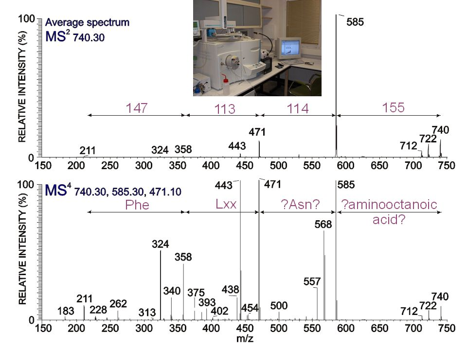 SORI of m/z 740.4703 RESULT: DIFFERENT AA RESIDUES ARE PRESENT!!!