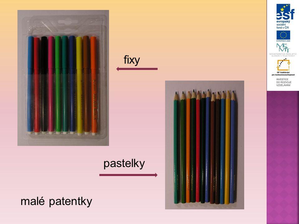 fixy pastelky malé patentky