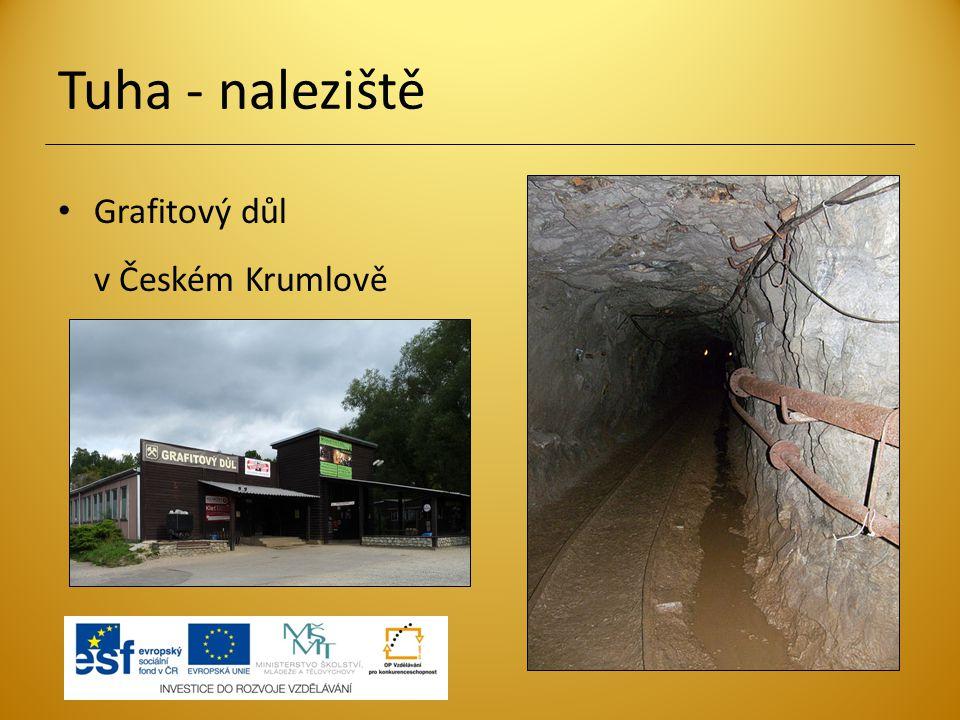 Tuha - naleziště Grafitový důl v Českém Krumlově