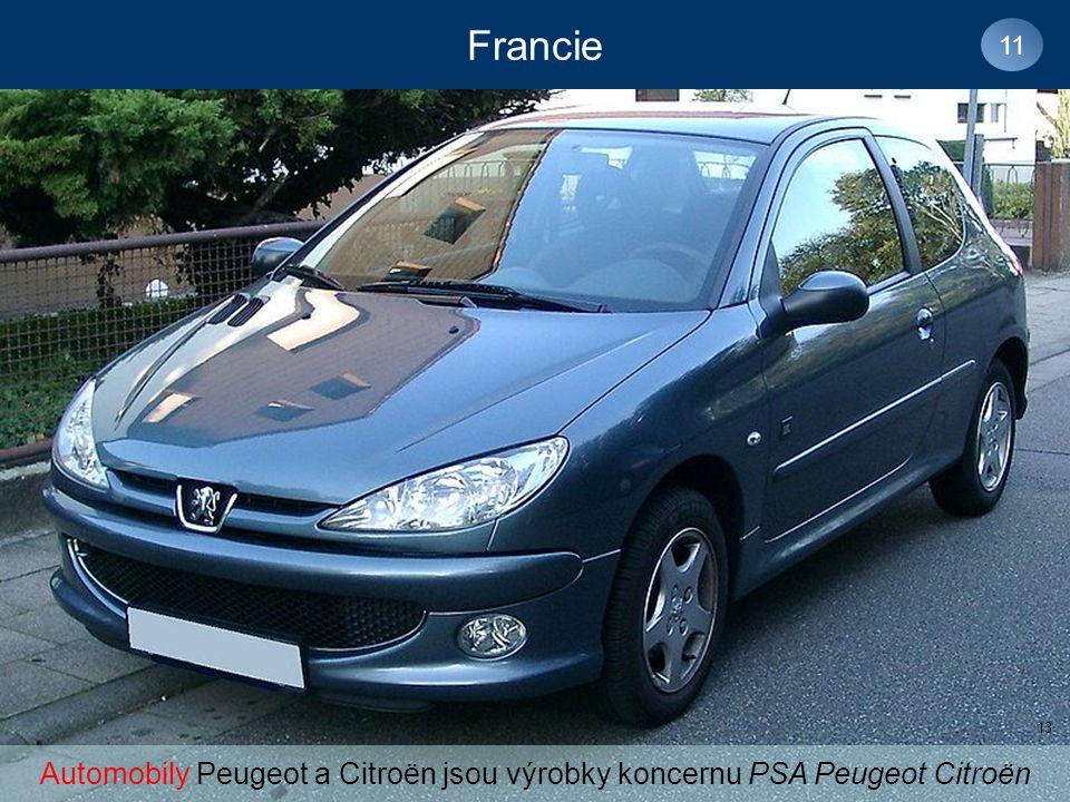 Francie 11 Automobily Peugeot a Citroën jsou výrobky koncernu PSA Peugeot Citroën 13