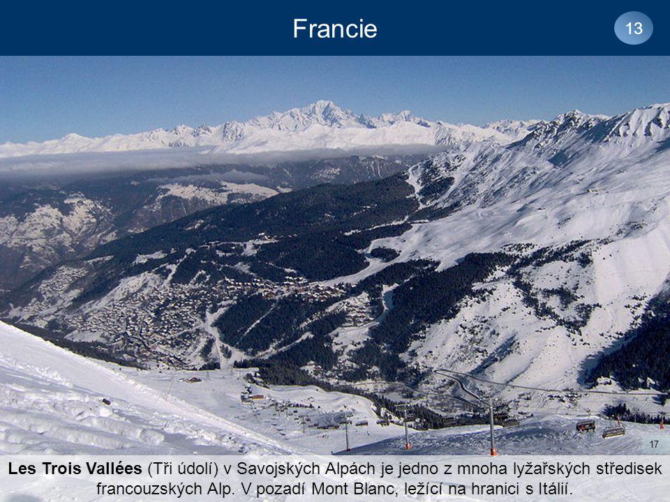 Francie 13 Les Trois Vallées (Tři údolí) v Savojských Alpách je jedno z mnoha lyžařských středisek francouzských Alp.