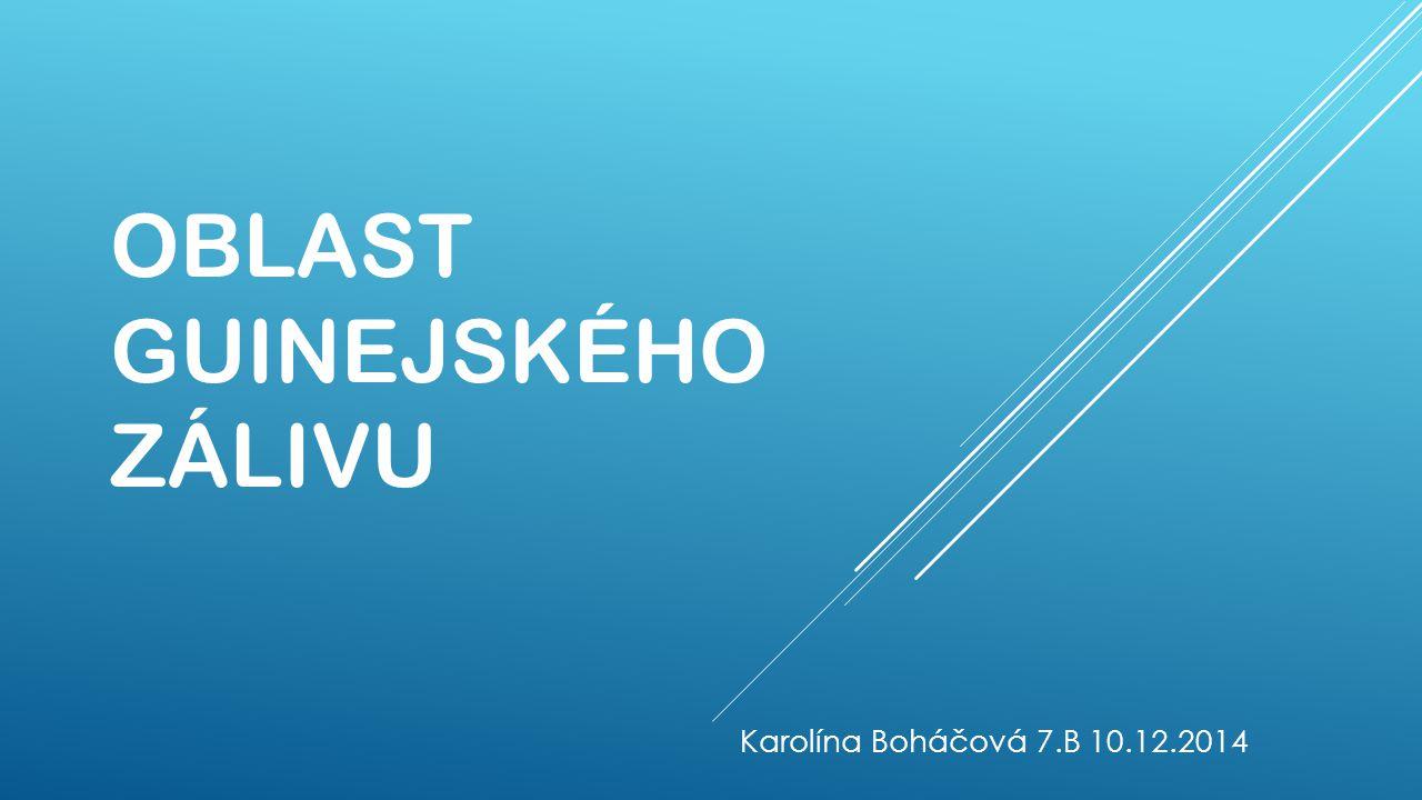 OBLAST GUINEJSKÉHO ZÁLIVU Karolína Boháčová 7.B 10.12.2014
