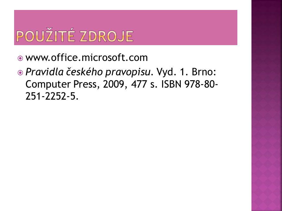  www.office.microsoft.com  Pravidla českého pravopisu.