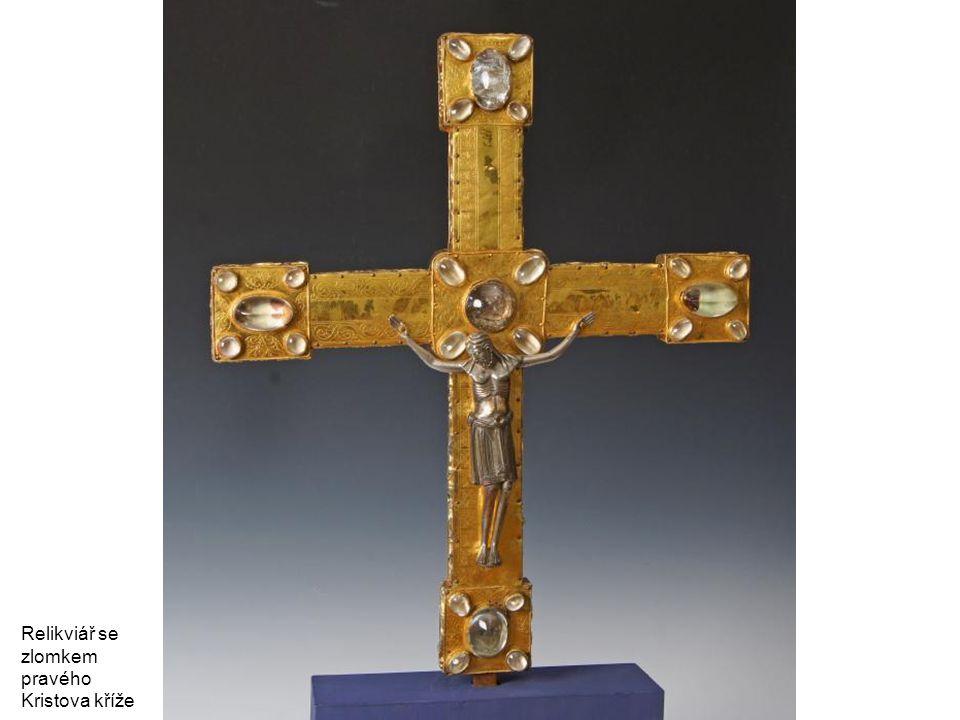 Relikviář se zlomkem pravého Kristova kříže